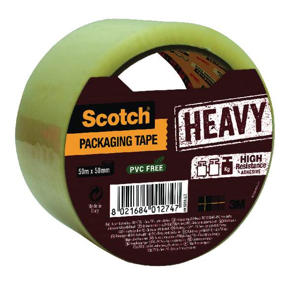 Scotch Heavy Duty 50mmx50m Clear Packaging Tape HV.5050.S.B