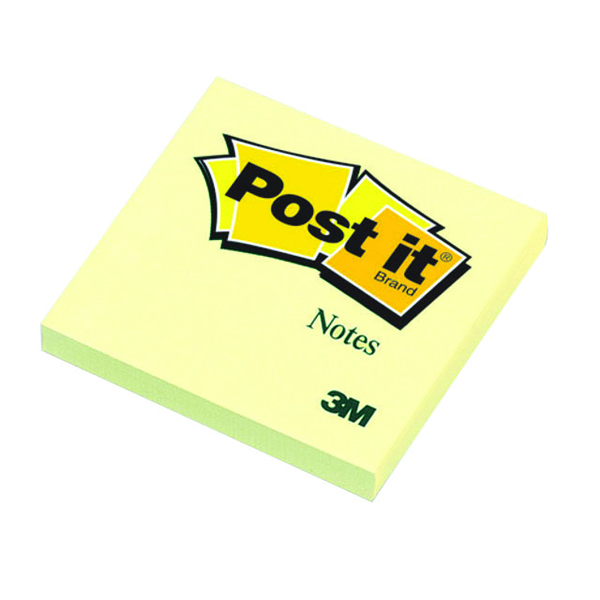 Post-it 76x76mm Canary Yellow Notes (Pack of 12) 654Y