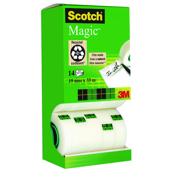 Scotch Clear Magic Tape 19mmx33m Tower Pack (Pack of 12+2 Free) 81933R14