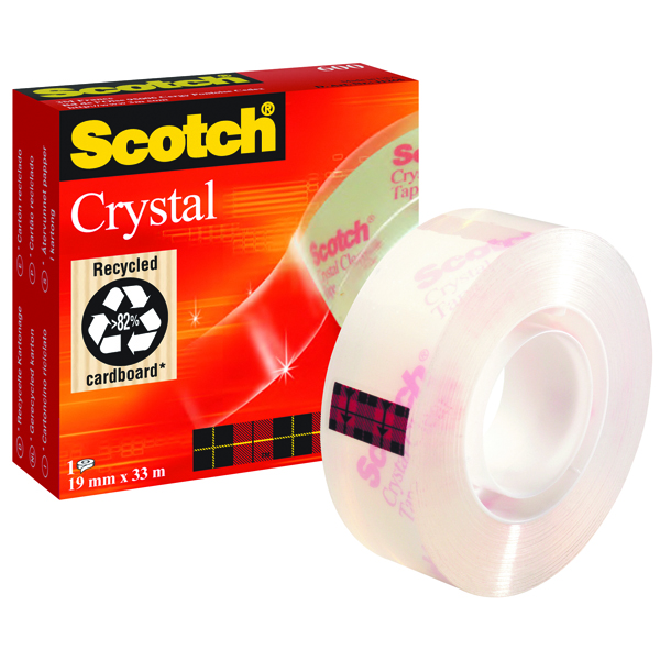 Catalogue - Vow Catalogue Scotch Crystal Clear Tape 19mm x 33m 600