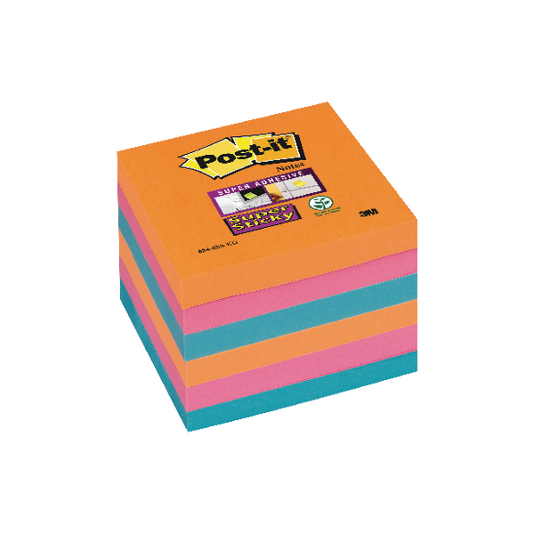 Post-it Super Sticky 76x76mm Bangkok Notes (Pack of 6) 654-6SS-EG
