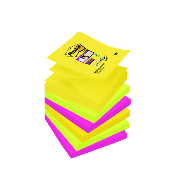 Post-it Super Sticky Z-Note 76 x 76mm Rio Collection (Pack of 6) R330-6SS-RIO-EU
