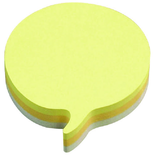 Post-it Speech Bubble 70 x 70mm Rainbow Notes Pack of 12 3M37917
