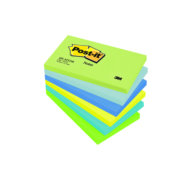 Post-it 76x76mm Dream Colours Notes (Pack of 6) 654MT