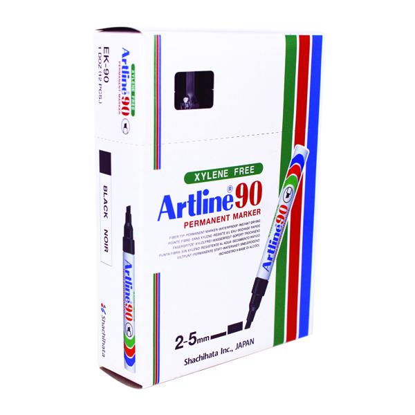 Artline 90 Black Chisel Tip Marker (Pack of 12) A901