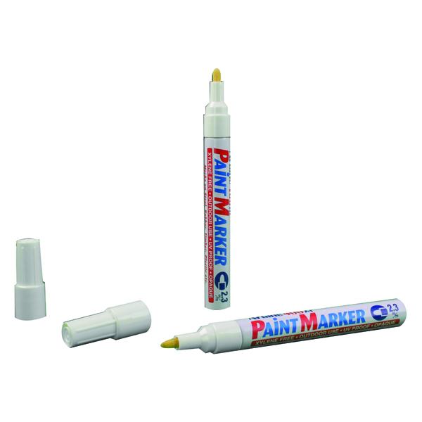 Artline 400 Medium White Bullet Tip Paint Marker (Pack of 12) A400