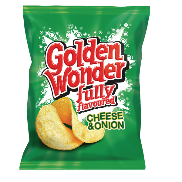 Golden Wonder Cheese and Onion Crisps (Pack 32) 121298