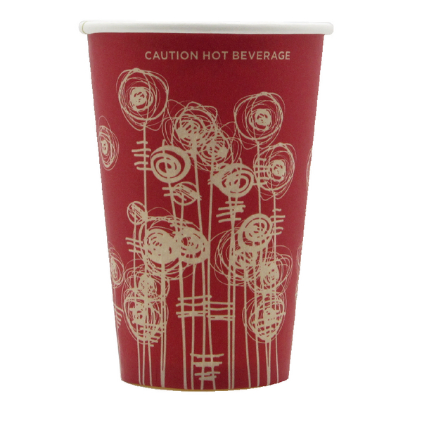 Paper Vending Cup 9oz 25cl Swirl Design (Pack of 1000) HHPAVC09A