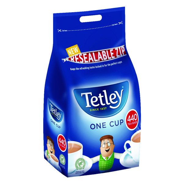 Environmentally Friendly Tetley One Cup Tea Bag (Pack of 440) A01352