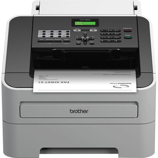 Brother FAX-2940 High-Speed Laser Fax Machine White FAX2940ZU1