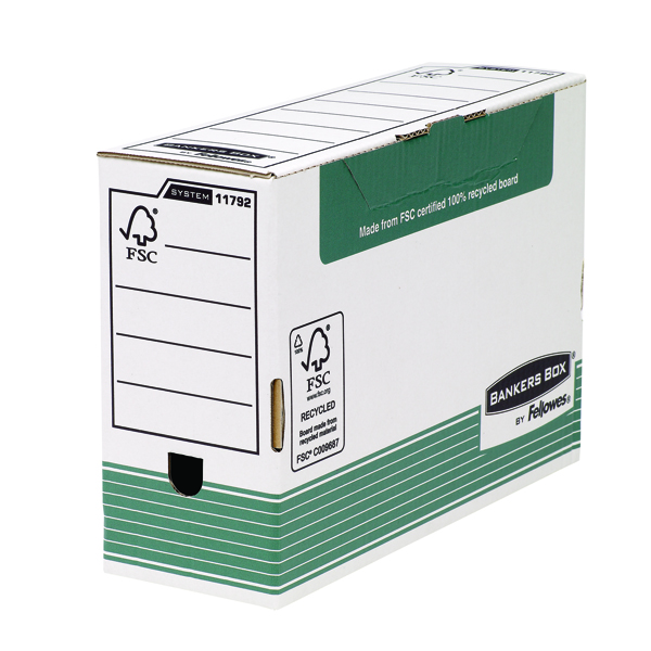 Fellowes Bankers Box Green Transfer Foolscap File 120mm (Pack of 10) 1179201