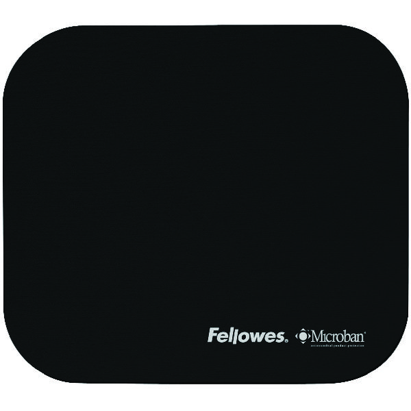 Fellowes Microban Black Mouse Mat 5933905