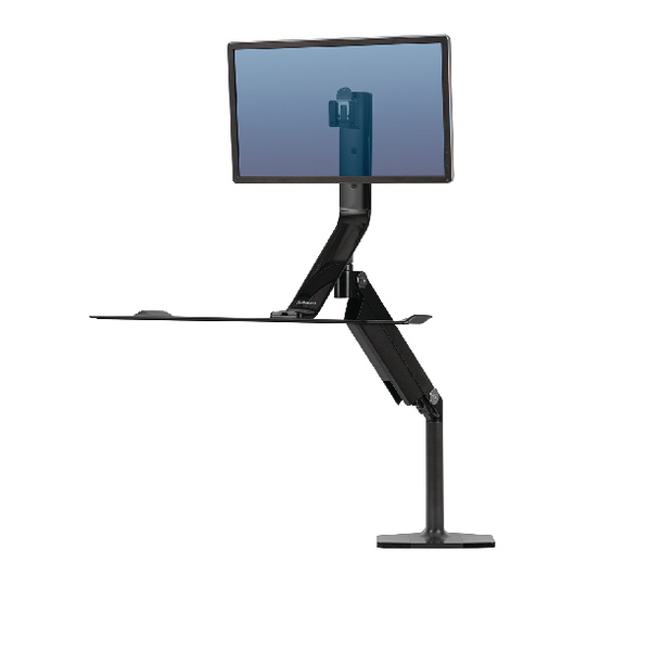 Fellowes Extend Sit Stand Workstation Featuring Humanscale Technology Single 9701