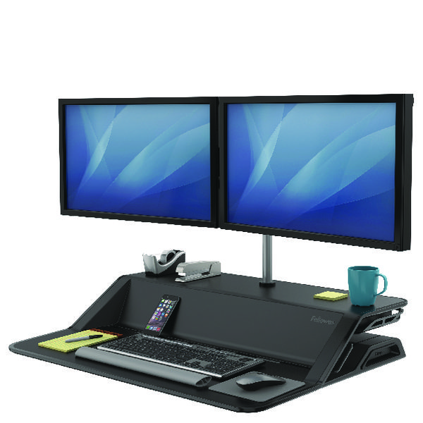 Fellowes Lotus VE Sit-Stand Workstation Dual 8082001