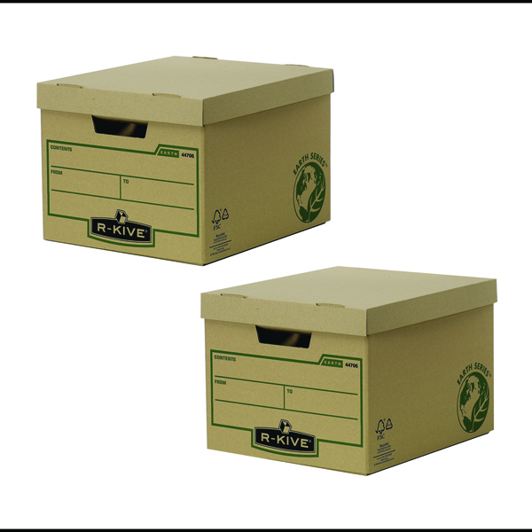 Bankers Box Brown R-Kive Earth Storage Box (2 Packs of 20) BB810443