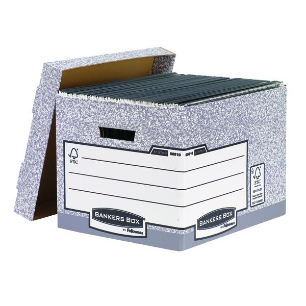 Bankers Box Grey Standard Storage Box (Pack of 10) 00810-FF