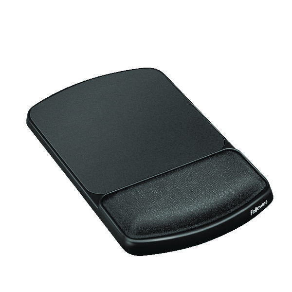 Fellowes Premium Gel Mouse Pad and Wrist Support Graphite 91741