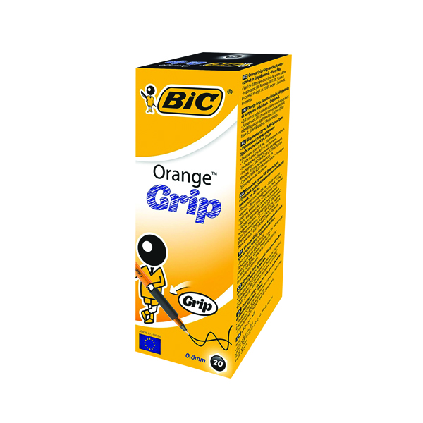 Bic Grip Ballpoint Black Pen 811925