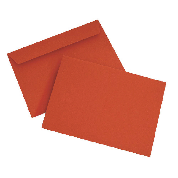 C6 Wallet Envelope Peel and Seal 120gsm Pillar Box Red (Pack of 250) Black 93012