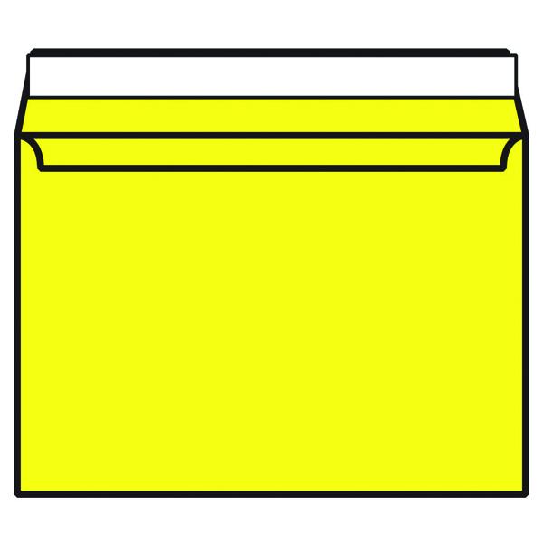 C4 Wallet Envelope Peel and Seal 120gsm Banana Yellow (Pack of 250) Black 93023