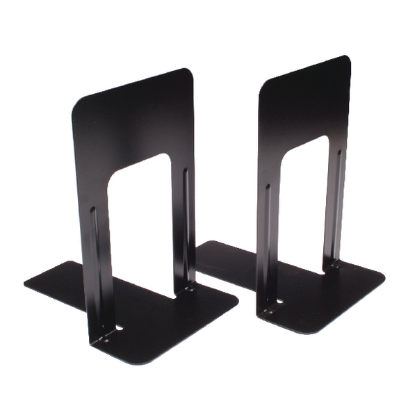 Large Deluxe Bookends Black One Pair BLO06914 (Pack of 2)