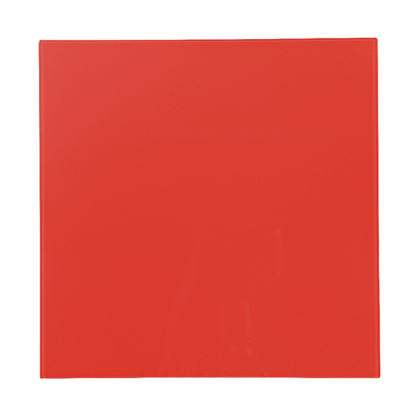 Bi-Office Magnetic Glass Personal Board Red 380x380mm GL140301