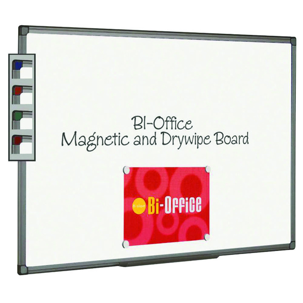Bi-Office Magnetic Whiteboard 1800x1200mm Aluminium Finish MB8506186