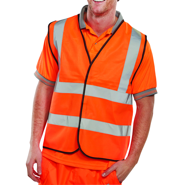 Proforce Class 2 Extra Large Orange High Visibility Vest HV05OR-XL