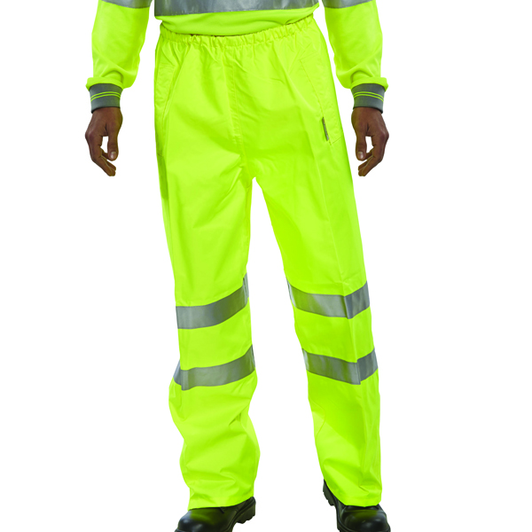 Proforce High Visibility Trousers Class 1 Large Yellow HV03YL-L