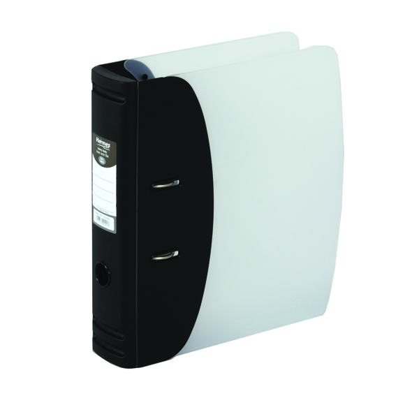 Hermes Heavy Duty Lever Arch File A4 Black 832001