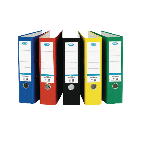 Elba Board Lever Arch File A4 Assorted (Pack of 10) 100025220