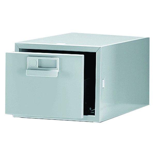 Bisley Card Index Cabinet 203x127mm Single Grey FCB15