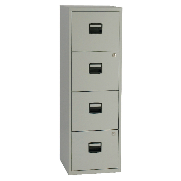 Bisley A4 Personal Filing Cabinet 4 Drawer Grey BY37874