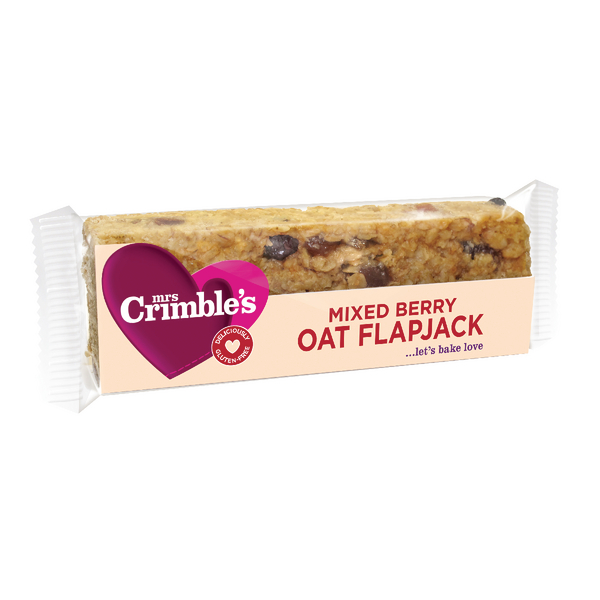 Mrs Crimbles Mixed Berry Oat Flapjack 65g (Pack of 18) A08029