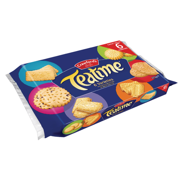 Crawfords Teatime Assorted Biscuits 275g 21421