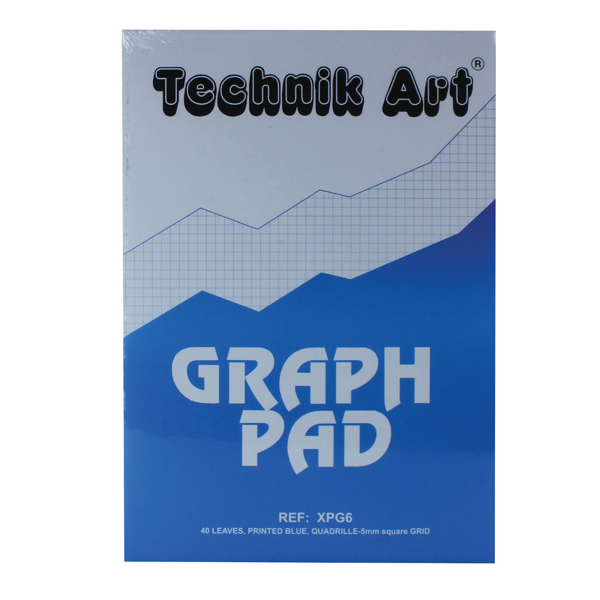 Technik Art 5mm Quadrille Graph Pad A4 40 Leaf XPG6