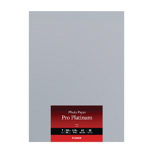 Canon A2 Photo Paper Pro Platinum 20 Sheets 2768B067 (Pack of 20)