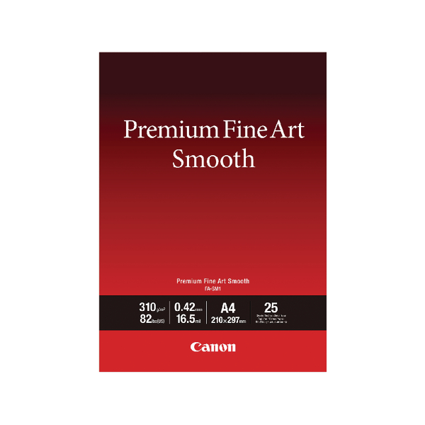 Canon Premium Fine Art Smooth A4 Paper Pack of 25 1711C001