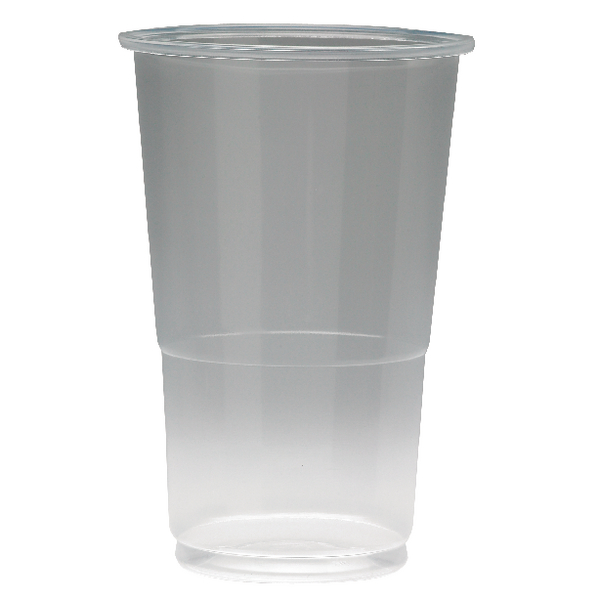 Plastic Half Pint Glass Clear (Pack of 50) 0510033