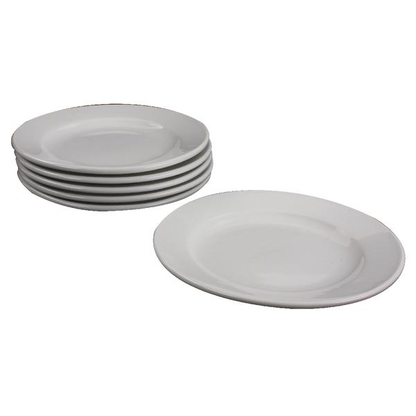 White 170mm Porcelain Plate (Pack of 6)