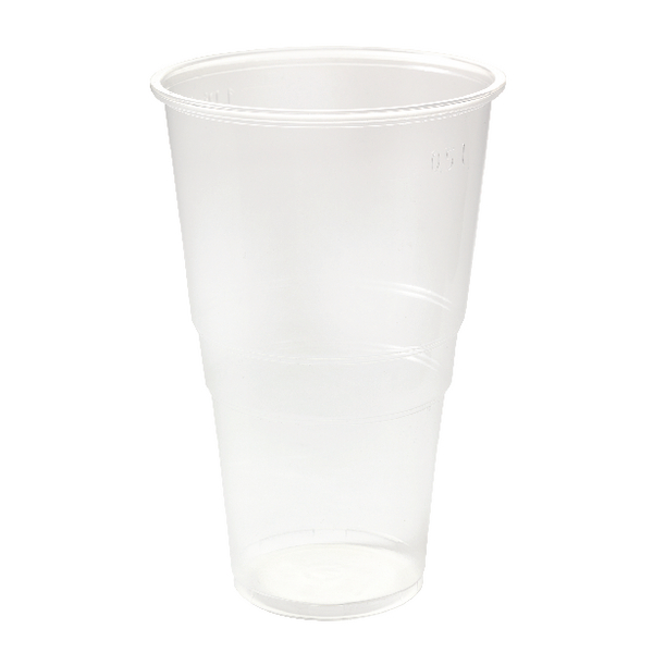Plastic Pint Glass Clear (Pack of 50) 0510043