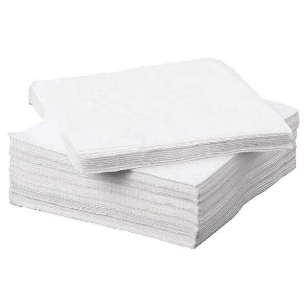 Napkin 2-Ply 330x330mm White (Pack of 100) 502135