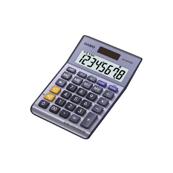 Casio 8-Digit Currency Calculator Silver MS-80VERII-S-EP
