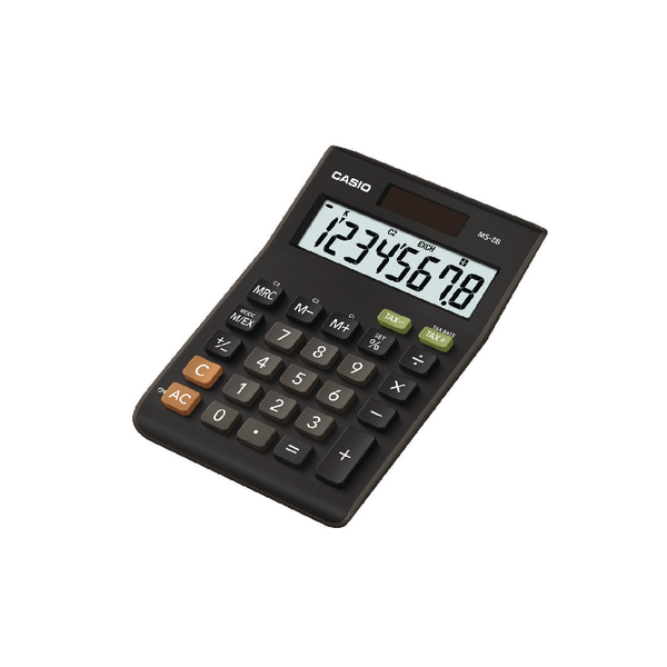 Casio 8-Digit Tax and Currency Calculator Black MS-8B