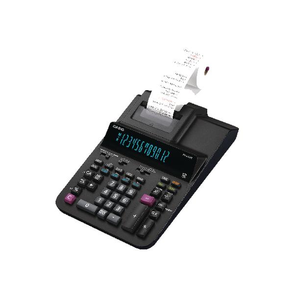 Casio 12 Digit Printing Calculator Black FR-620RE-E-UC