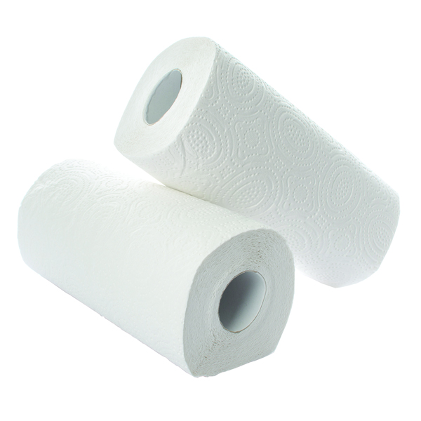 2Work Kitchen Roll 2 Packs of 12 White [Pack 24] KR0024
