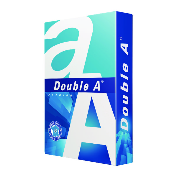 Double A White Premium A3 Paper 80gsm 500 Sheets 3613630000134 (Pack of 500)