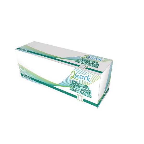 2Work Whiteboard Eraser Refill Pads (Pack of 10) AWER010TWK