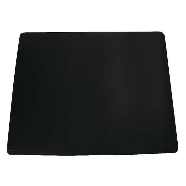 Durable Black Desk Mat With Contoured Edges 520x650mm 7103/01