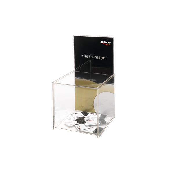 Deflecto Clear Suggestion Box/Sign Holder DE66001